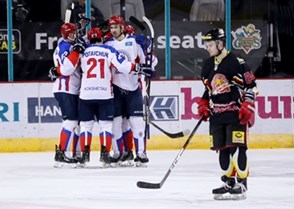 Arlan Kokshetau vs. HK Gomel. Photo: William Cherry